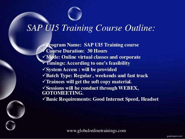 SAPUI5 Training | SAP UI5 online Training-Global Online