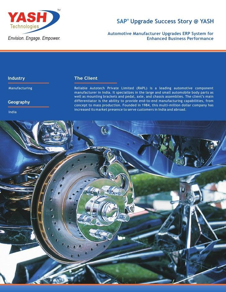 TM                                              SAP® Upgrade Success Story @ YASH                                         ...