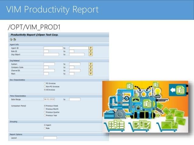 Click to edit Master title styleVIM Productivity Report /OPT/VIM_PROD1