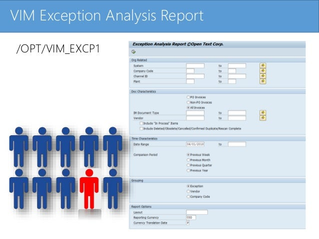 Click to edit Master title styleVIM Exception Analysis Report /OPT/VIM_EXCP1