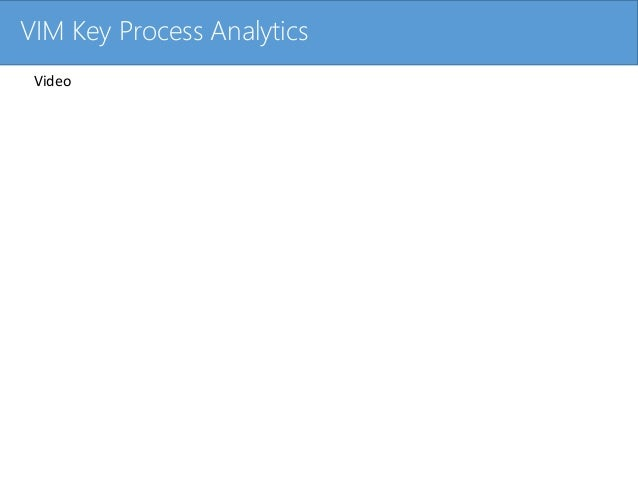 Click to edit Master title styleVIM Key Process Analytics Video