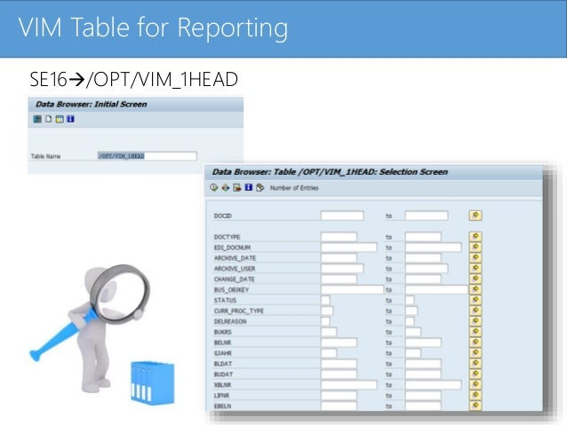 Click to edit Master title styleVIM Table for Reporting SE16/OPT/VIM_1HEAD
