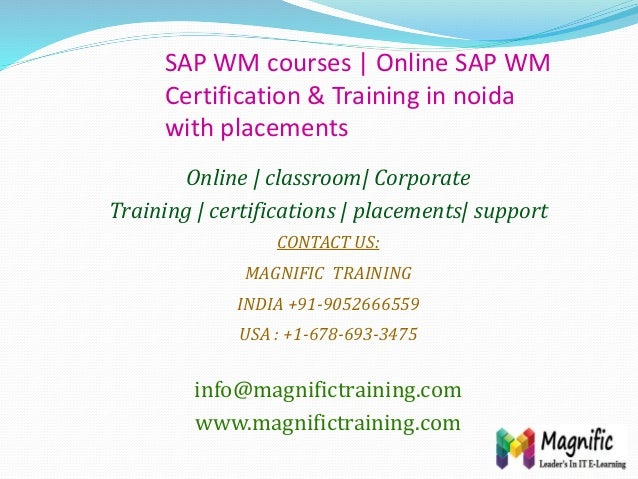 SAP WM courses   Online SAP WM Certification & Training in noida with placements Online   classroom  Corporate Training   ...