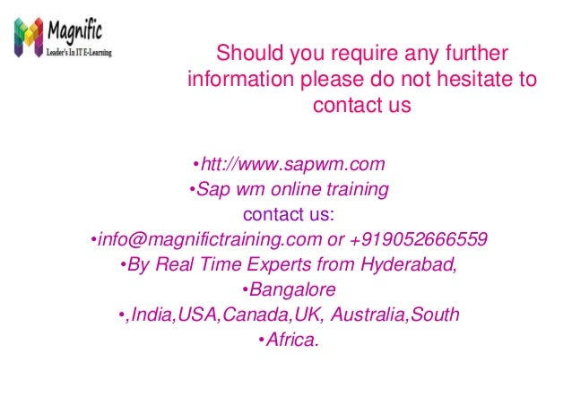 Sap Wm Online Training Placements With Certification
