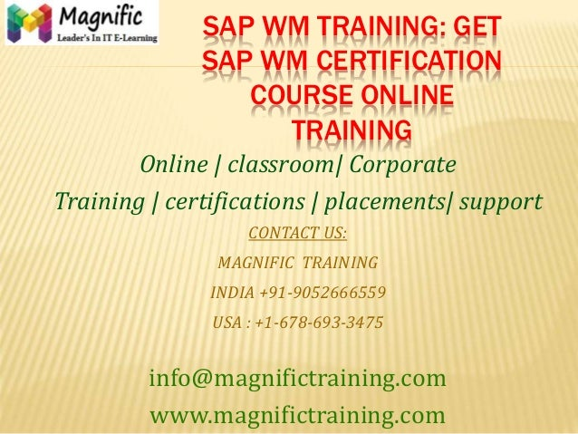 Sap wm training get sap wm certification course online training
