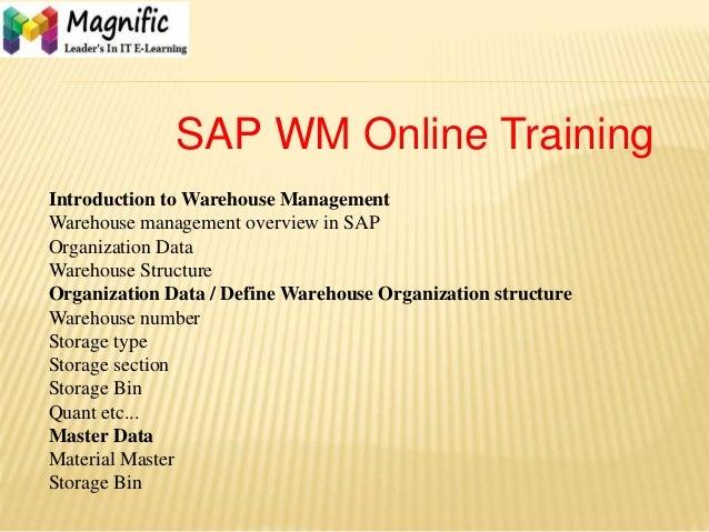 Sap wm training get sap wm certification course online training