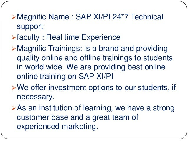 First Step to Learn SAP XI or PI - Process Integration ...