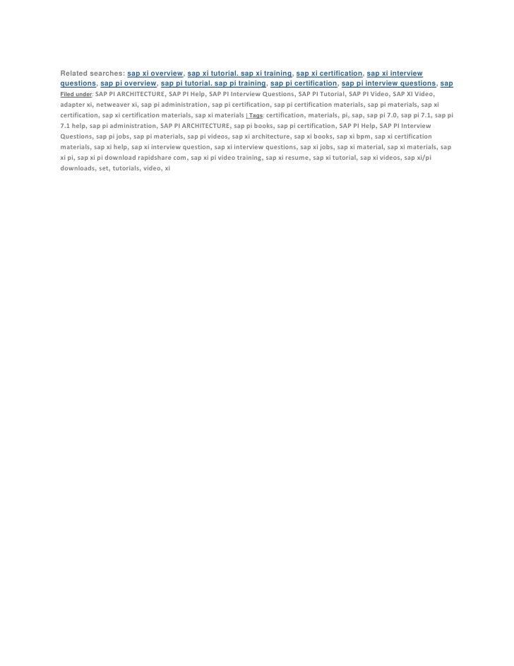 sap pi training material pdf