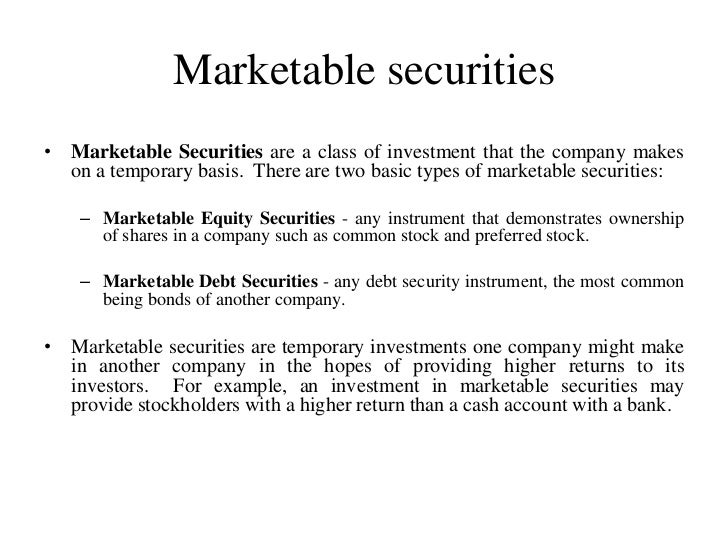 cash and marketable securities management pdf