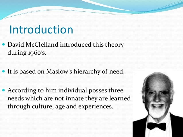 mcclelland theory of motivation pdf