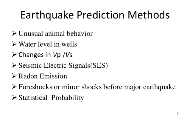 Early Prediction of Earthquakes