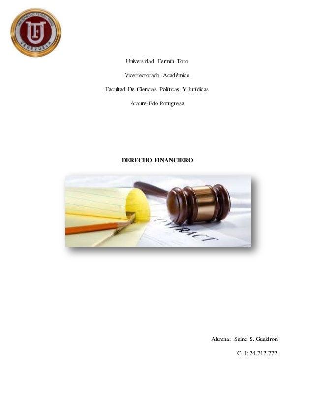 Universidad Fermín Toro Vicerrectorado Académico Facultad De Ciencias Políticas Y Jurídicas Araure-Edo.Potuguesa DERECHO F...