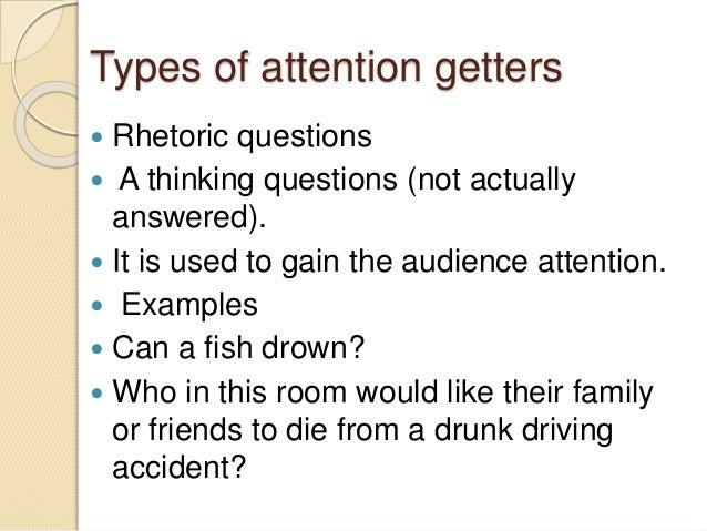attention getter for drunk driving speech