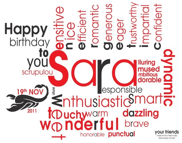 Saarmbitious mpartia omantic fficient ager dorable mused lluring onfiden brave honorable punctual dynamic Happy you to bir...