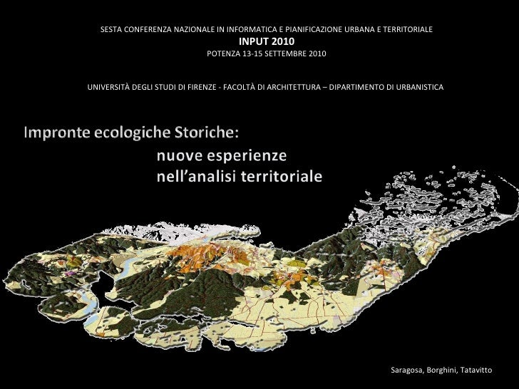 Impronte ecologiche storiche: nuove esperienze nell'analisi territoriale, di Claudio Saragosa, Tommaso Borghini, Marcella ...