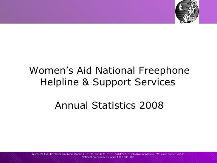 Women's Aid National Freephone Helpline & Support Services  Annual Statistics 2008
