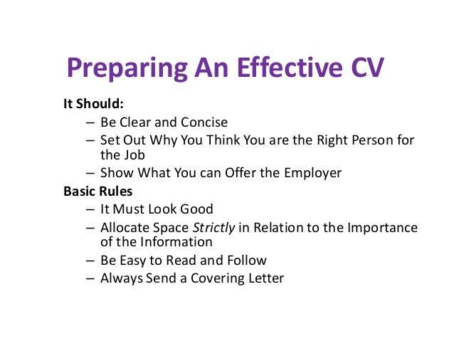 16 preparing an effective cv