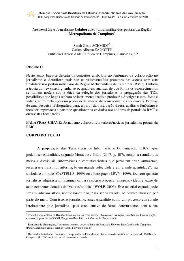 Intercom–SociedadeBrasileiradeEstudosInterdisciplinaresdaComunicação         XXXIICongressoBrasileirodeCiênci...