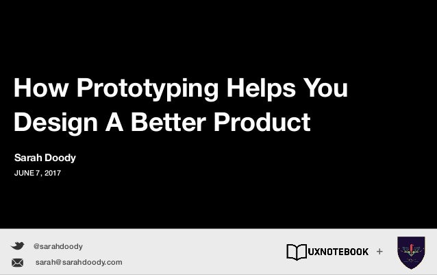 How Prototyping Helps You Design A Better Product www.sarahdoody.com How Prototyping Helps You Design A Better Product @sa...