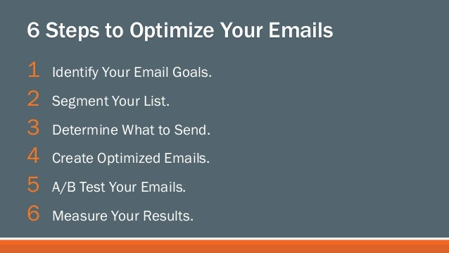 6 Steps to Optimize Your Emails for Higher Click-Through Rates and Conversions - Sarah Goliger, #INBOUND13 Slide 3