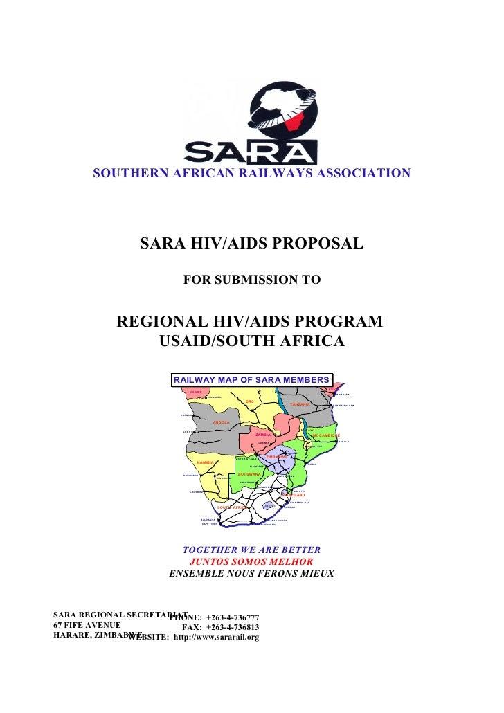 SOUTHERN AFRICAN RAILWAYS ASSOCIATION                        SARA HIV/AIDS PROPOSAL                                FOR SUB...