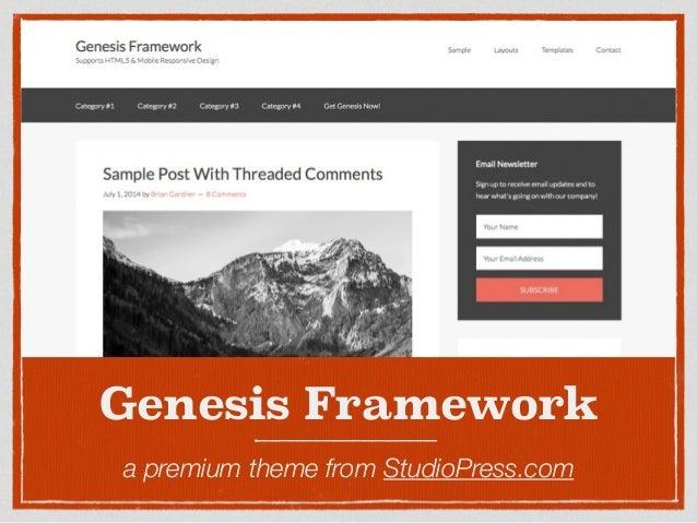 The Genesis Framework: Hooks & Filters for Theme Development Slide 2