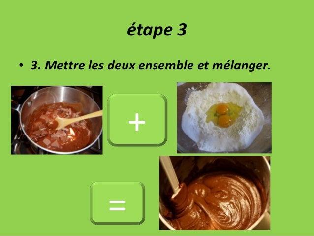 étape 3 • 3. Mettre les deux ensemble et mélanger. + =