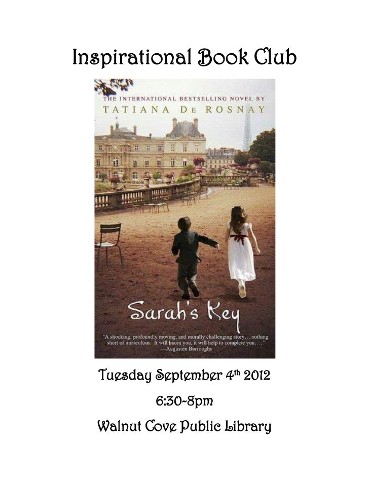 Inspirational Book Club  Tuesday September 4th 2012          6:30-8pm  Walnut Cove Public Library