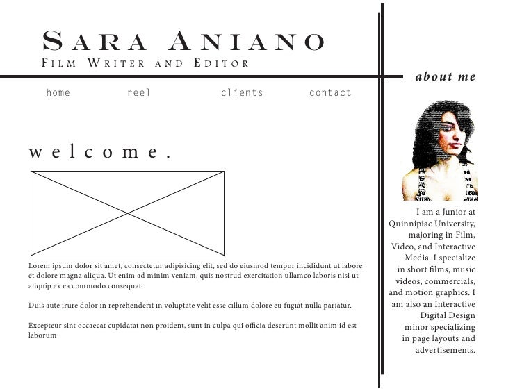 sara aniano    Film Writer                        a n d        editor                                                     ...
