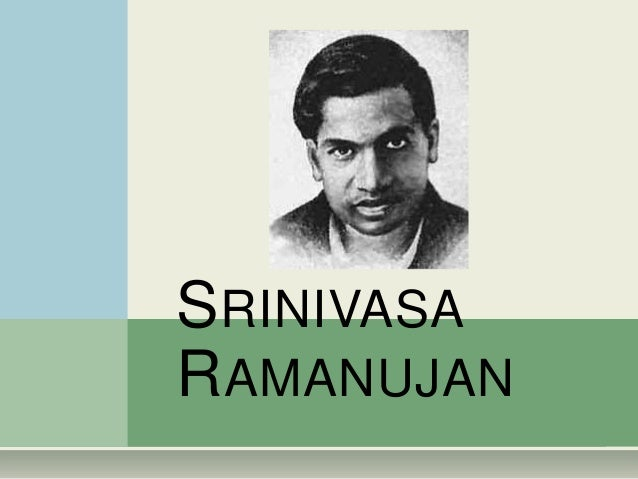 SRI RAMANUJAN BIOGRAPHY EBOOK