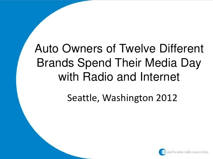 Auto Owners of Twelve DifferentBrands Spend Their Media Day    with Radio and Internet     Seattle, Washington 2012