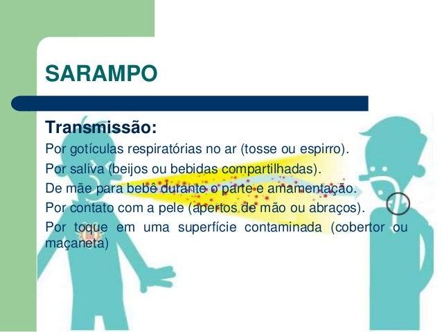Resultado de imagem para SARAMPO TRANSMISSÃO