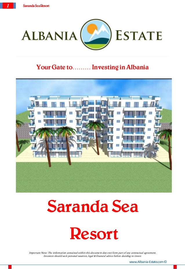 1   Saranda SeaResort             Your Gate to……… Investing in Albania                      Saranda Sea                   ...