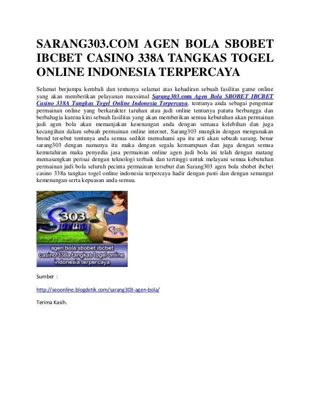 Sarang303 Com Agen Bola Sbobet Ibcbet Casino 338 A Tangkas Togel Onli