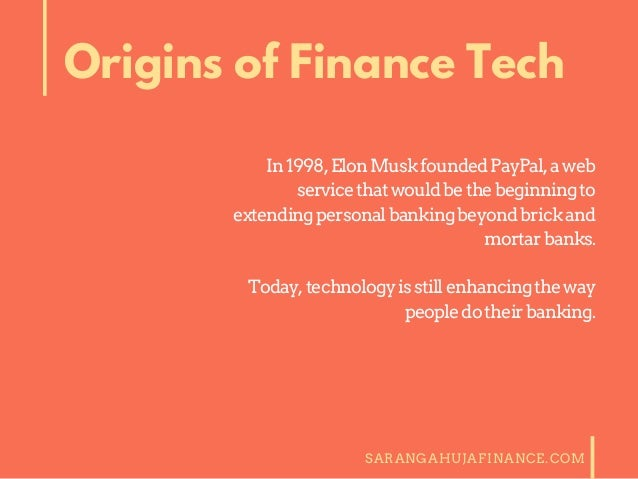 The Future of Finance and Technology Slide 2