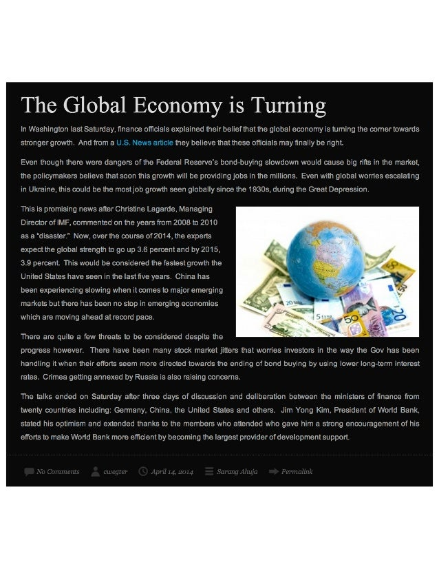 The Global Economy is Turning