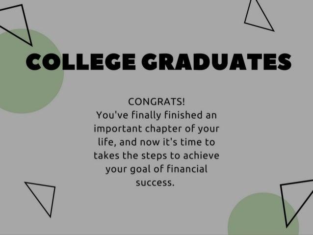 Post College Financing Tips  Slide 2