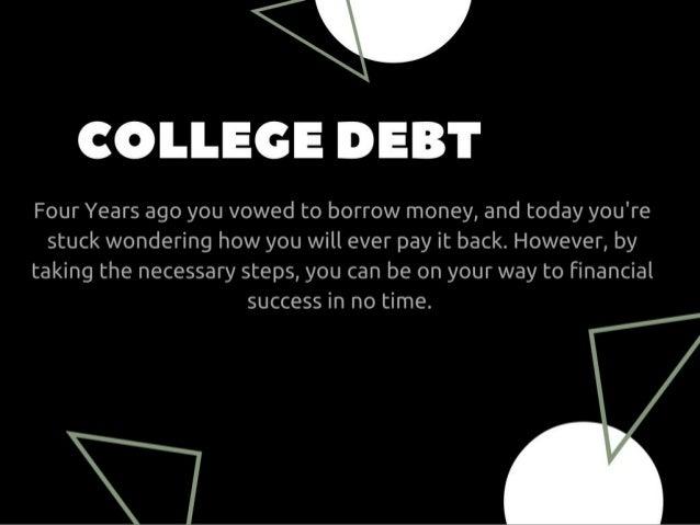 Post College Financing Tips  Slide 3