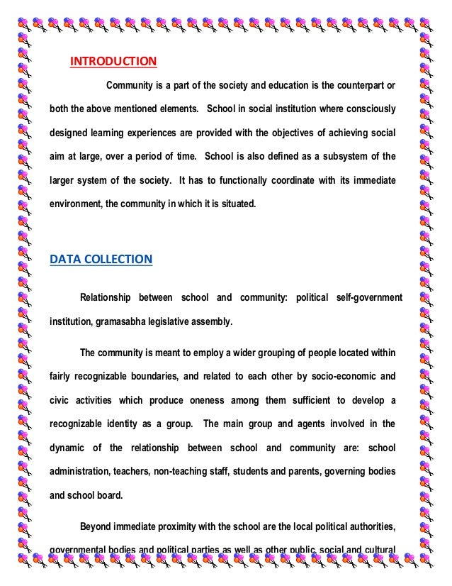 definition of school community relationship