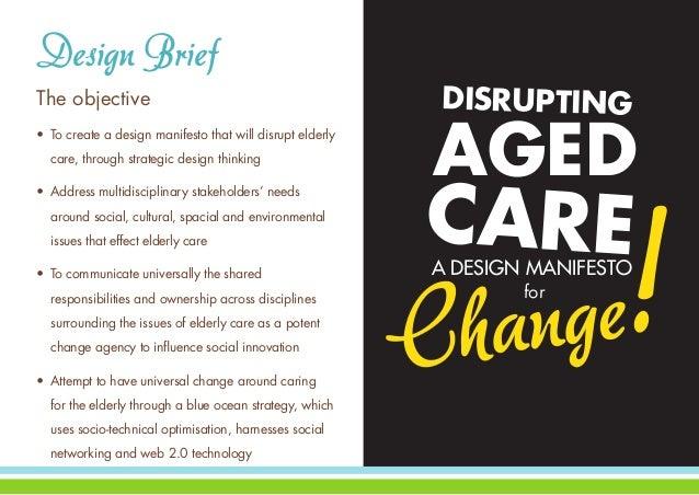Disrupting Aged Care A Design Manifesto For Change