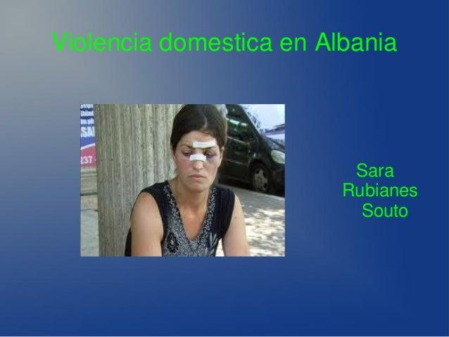 Violencia domestica en Albania  Sara Rubianes Souto