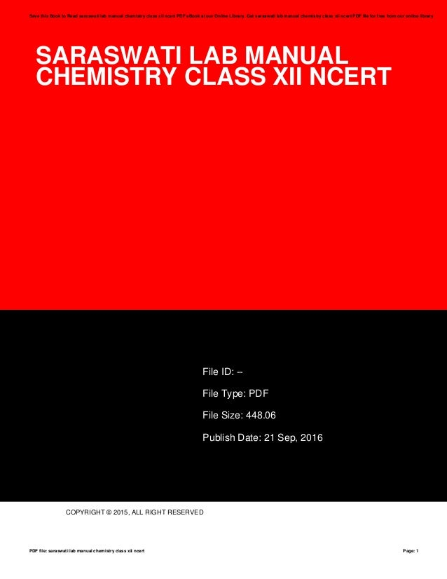 Class 12 Chemistry Ncert Textbook - (pdf Format)