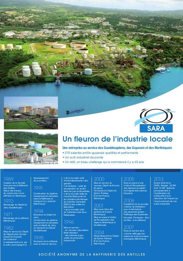 Un fleuron de l'industrie locale Une entreprise au service des Guadeloupéens, des Guyanais et des Martiniquais • 270 salari...