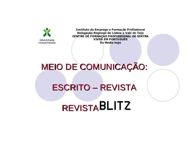 Instituto do Emprego e Formação Profissional         Delegação Regional de Lisboa e Vale do Tejo      CENTRO DE FORMAÇÃO P...