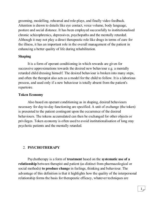 Psychology Internship Report