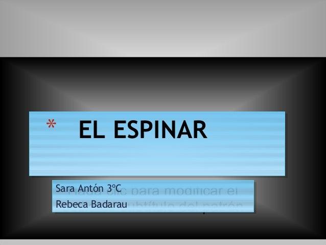 Haga clic para modificar el estilo de subtítulo del patrón Sara Antón 3ºC Rebeca Badarau Sara Antón 3ºC Rebeca Badarau * E...