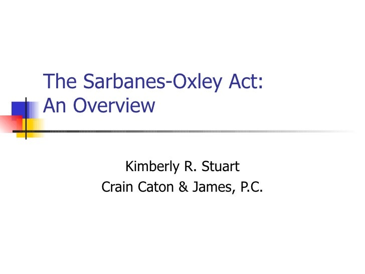 Primer on sarbanes oxley
