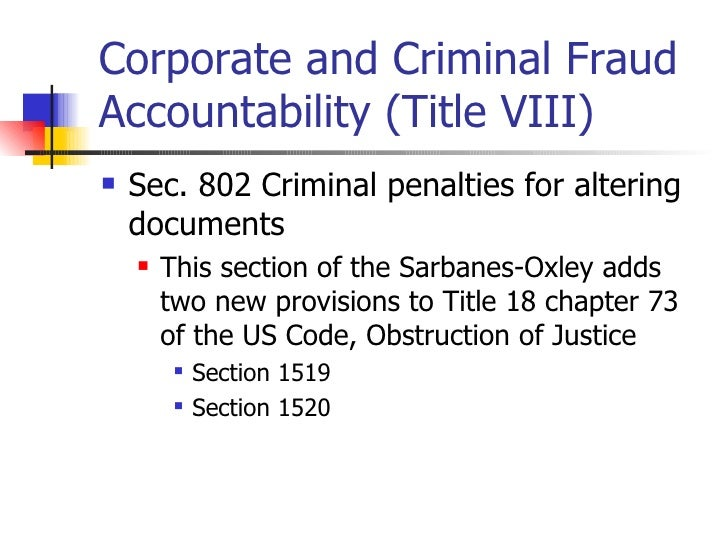 a primer on sarbanes oxley Sarbanes-oxley was passed in 2002 and ten years later the legislation continues  to challenge companies, auditors and compliance.