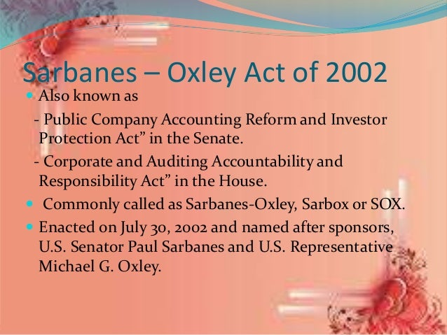 articles upon sarbanes-oxley act