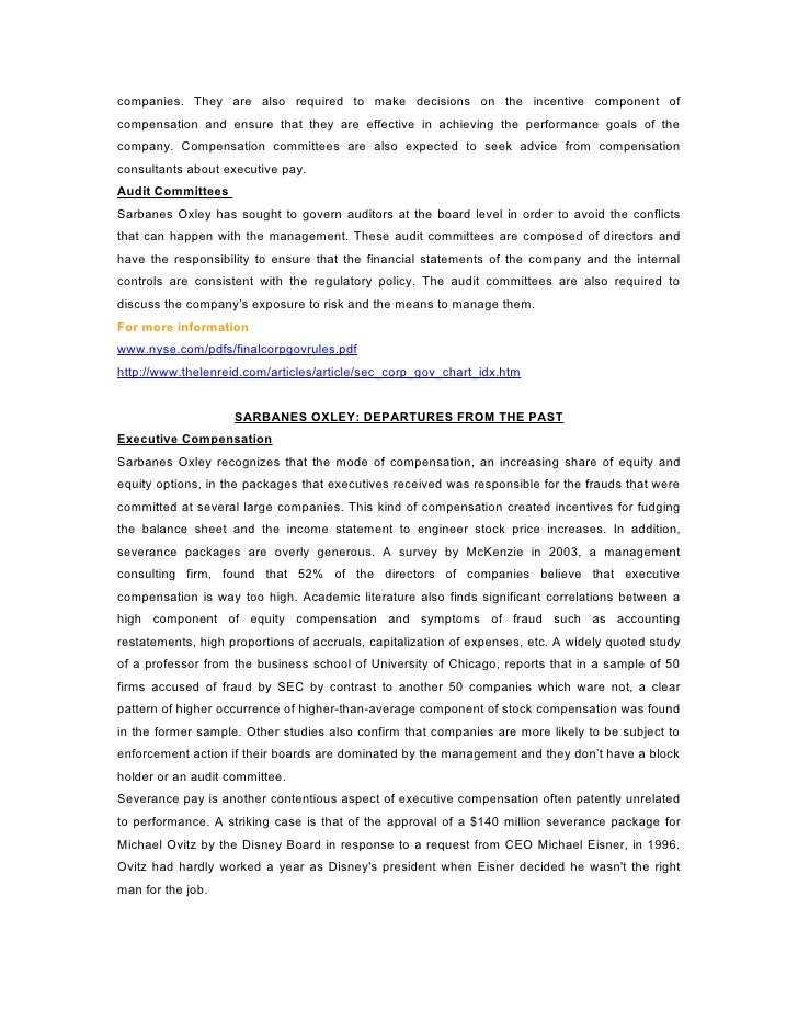 sarbanes oxley security management The sarbanes-oxley act of sarbanes-oxley act: the impact on it security and it architects with practical experience in identity and access management.